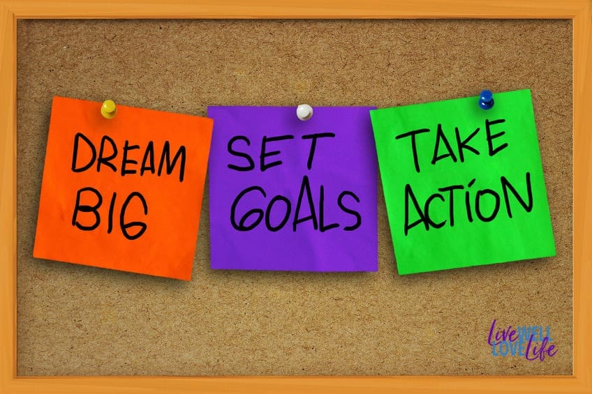 After you set your goals, make a plan, and take action.